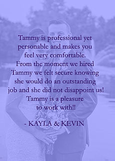 Kayla and Kevin review of Cincinnati and Northern Kentucky best and most affordable wedding photographer Tammy Bryan