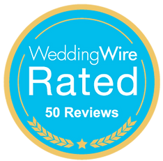 Wedding Wire 50 Reviews award presented to Cincinnati and Northern Kentucky wedding photographer Tammy Bryan