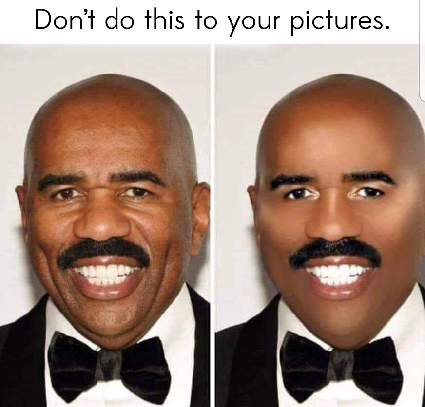 Cincinnati and Northern Kentucky best and most affordable wedding photographer Tammy Bryan posted a picture of Steve Harvey badly edited in Photoshop