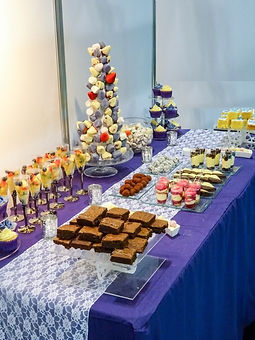 dessert table purple