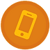 pink mobile phone icon