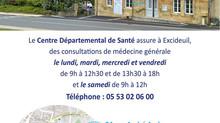 Le premier Centre départemental de Santé a ouvert à Excideuil en Dordogne