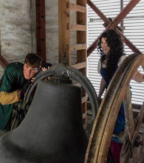 Tyler Evick (Quasimodo) and Courtney Harkins (Esmeralda)