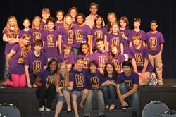 """13"" Cast with Dan Elish (top center"