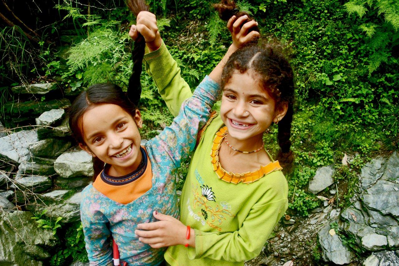 Children Smiling, North India