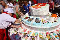 Торт в честь юбилея г. Таштагол