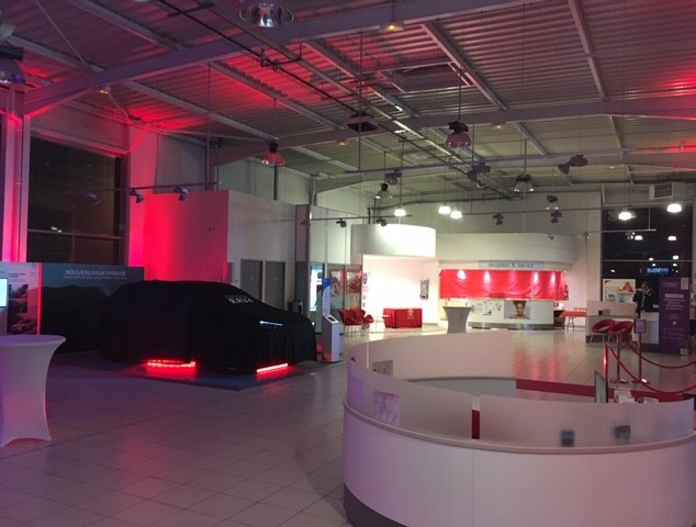 Eclairage concession Toyota Redon