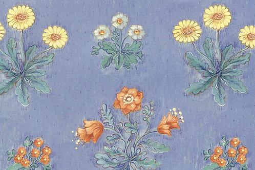 Carta Fiori Sfondo Azzurro 50x70cm (cod. 038A)