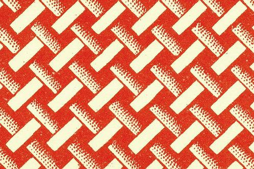 Carta Varese Disegni Geometrici Rosso 50x70cm (cod. 0388)