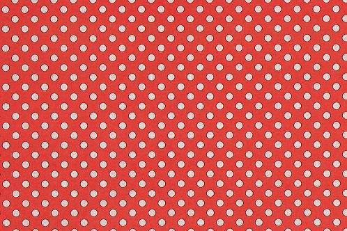 Carta con Puntini Bianco su Rosso 50x70cm (cod.7101B)