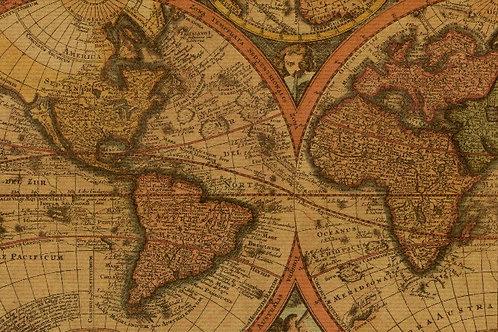 Carta Viaggi Cartina Mondo 50x70cm (cod.5204)