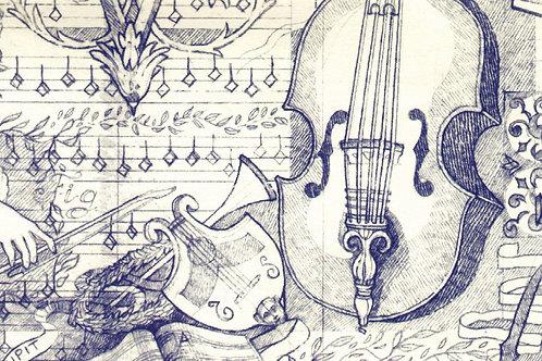 Carta con Violino 50x70cm (cod.133A)