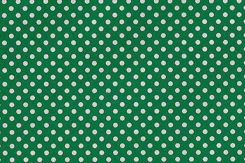 Carta con Puntini Bianco su Verde 50x70cm (cod.7102B)