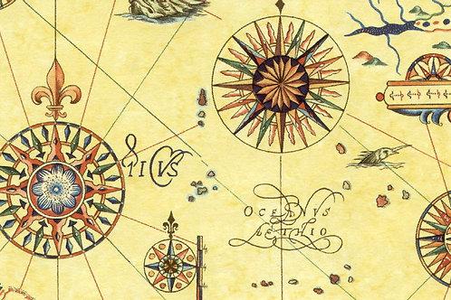 Carta Viaggi Rosa dei Venti 50x70cm (cod.1158)