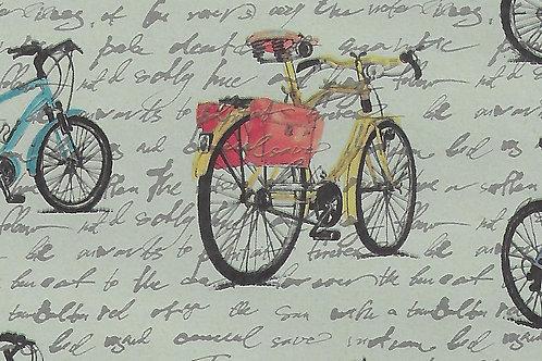 Carta con Biciclette 50x70cm (cod.7109)