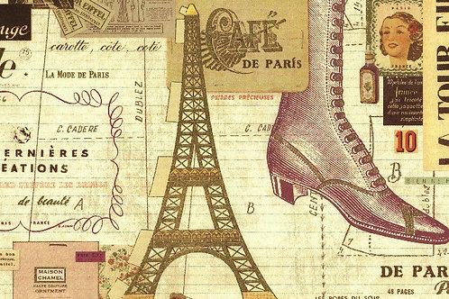 Carta Viaggi Paris Moda 50x70cm (cod.5156)