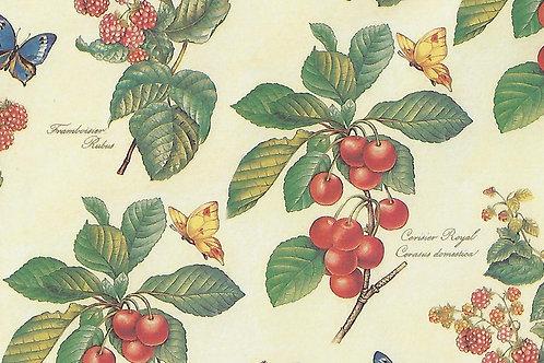 Carta Frutti Rossi con Farfalle 50x70cm (cod. 7111)