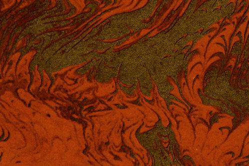 Carta Pavonata Rosso Oro 50x70cm (cod.0272)