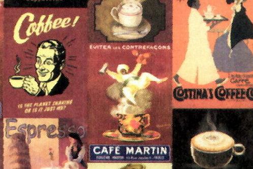 Carta con Manifesti caffè 50x70cm (cod. 5643)