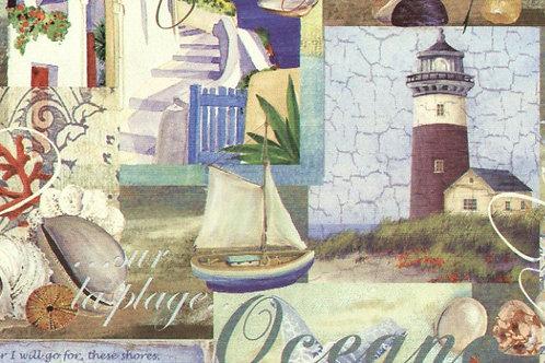 Carta con Oceano 50x70cm (cod. 5151)