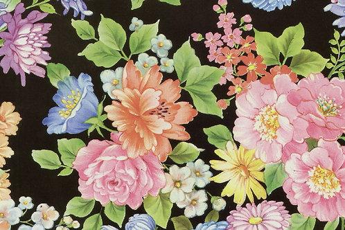 Carta Fiori Multicolor Fondo Scuro 50x70cm (cod. 0234)