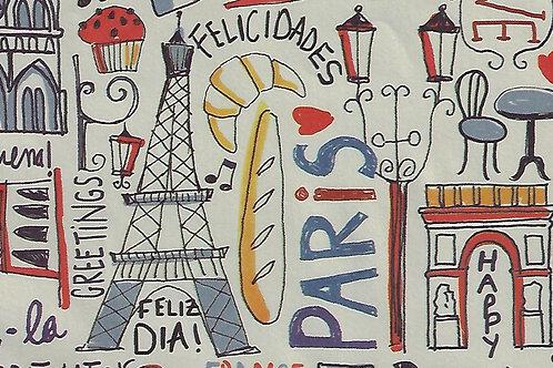 Carta Viaggi Parigi B 50x70cm (cod.7110)