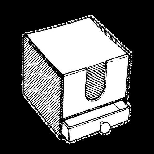 Cubo Portafoglietti con cassetto (10x10x9cm) da rivestire