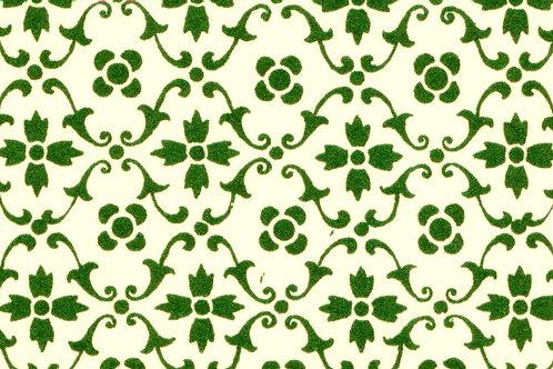 Carta Varese Fiorita Verde 70x100cm (cod. 056)