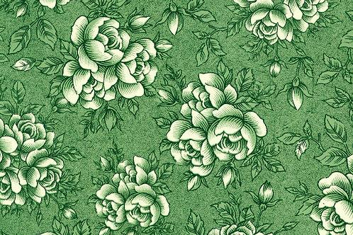 Carta Varese Fiorita Verde 50x70cm (cod. 0174)