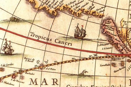 Carta Viaggi Tropico 50x70cm (cod.039A)