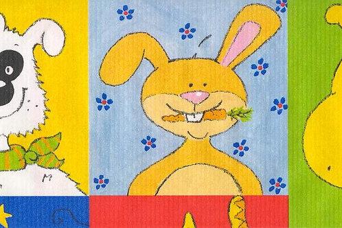 Carta con Animali Disegnati 50x70cm (cod.5801)