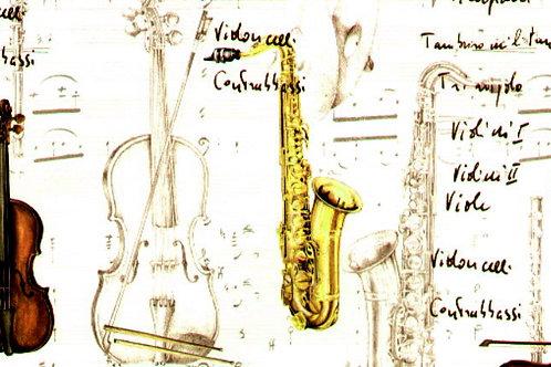Carta con Strumenti Musicali 50x70cm (cod.6063)