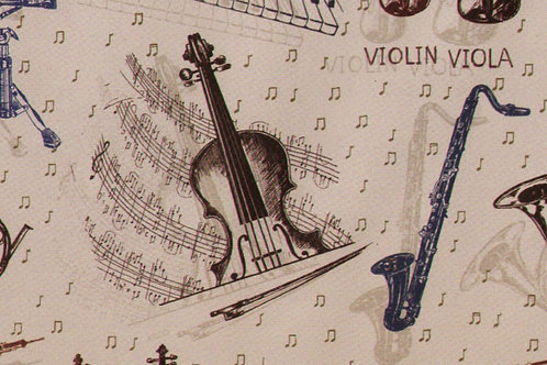Carta con Strumenti Musicali 50x70cm (cod.5822)