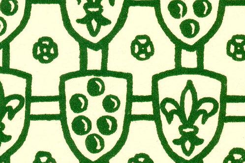 Carta Scudi con Giglio Verde 50x70cm (cod. 072)