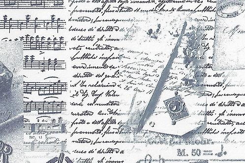 Carta con Scritte con Sfondo Azzurro 50x70cm (cod.7120)