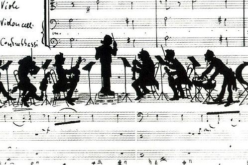 Carta con Orchestra 50x70cm (cod.5095)