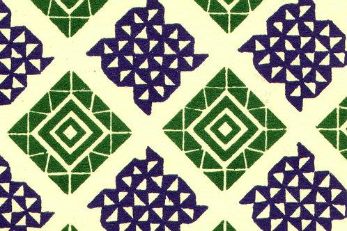 Carta Varese Disegni Geometrici Verde e Blu 50x70cm (cod. 0858)