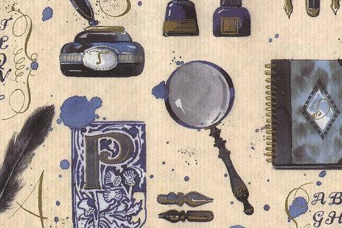 Carta con Libri Penna e Calamaio 50x70cm (cod.2053)