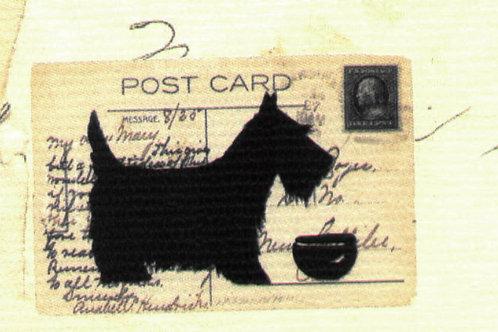 Carta con Cane su Cartolina 50x70cm (cod.5205)