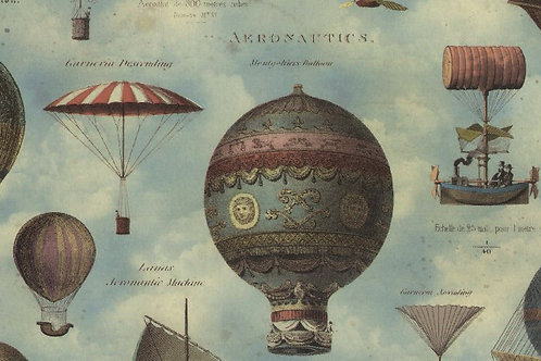 Carta Viaggi Mongolfiere 50x70cm (cod.2083)