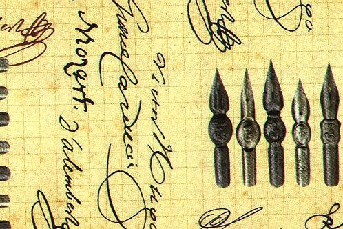 Carta con Penna Stilografica 50x70cm (cod.5390)