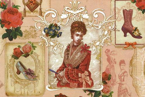 Carta con Moda Donna 50x70cm (cod. 5059)