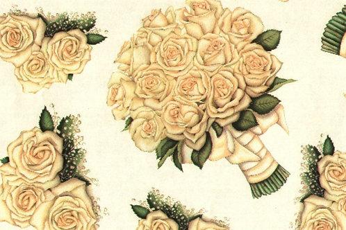Carta con Rose Bianche 50x70cm (cod. 6694)