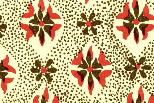 Carta Varese Disegni Geometrici Marrone e Rosso 50x70cm (cod. 0805)