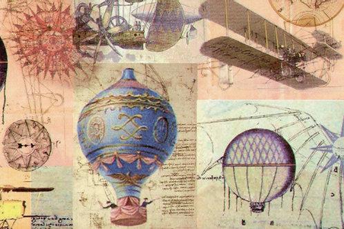 Carta Viaggi Mongolfiere e Aerei 50x70cm (cod.5286)
