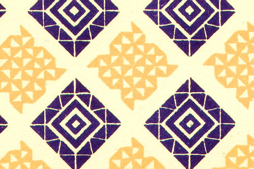 Carta Varese Disegni Geometrici Blu e Arancione 50x70cm (cod. 0171)