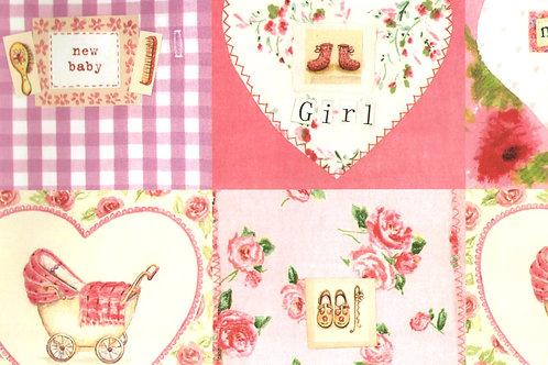 Carta con Bebè Rosa 50x70cm (cod. 6717)