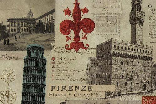 Carta Viaggi Firenze 50x70cm (cod.2070)