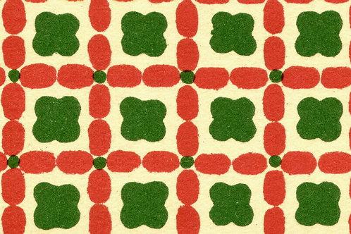 Carta Varese Disegni Geometrici Rosso e Verde 50x70cm (cod. 0133)