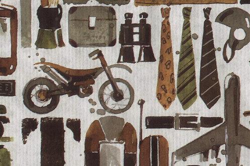 Carta con Moto Cravatte e Oggetti 50x70cm (cod.2048)